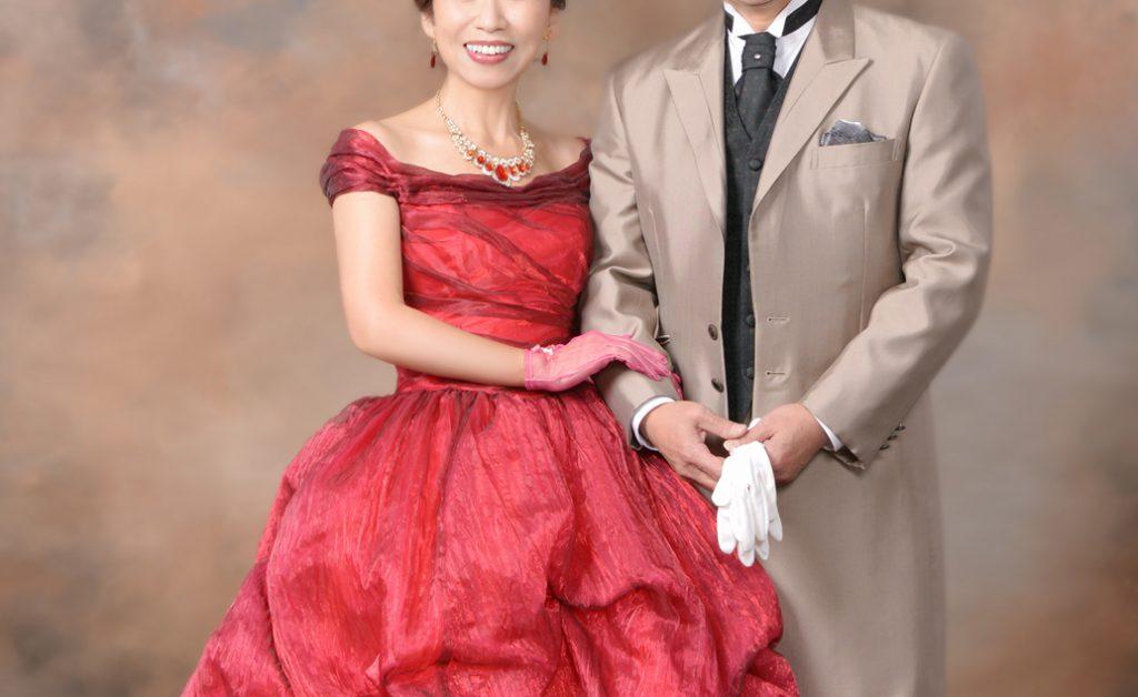 ご還暦は赤いドレスで♪
